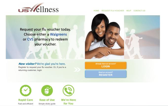 US Wellness flu voucher